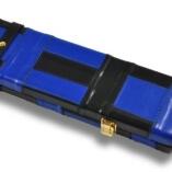 Black & Blue Patchwork pattern leather cue case2