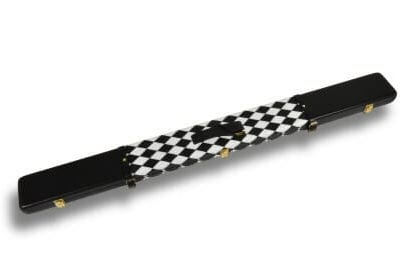 Black & White Small Diamond leather cue case