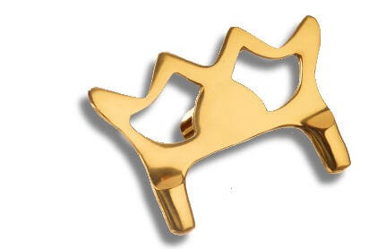 Brass Butt Rest Head (no fibre toes, just rounded brass