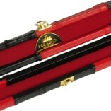 Peradon Thin Genuine Leather One Piece Cue Case Red and Black 5