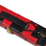 Peradon Wide Genuine Leather One Piece Cue Case Red and Black 3