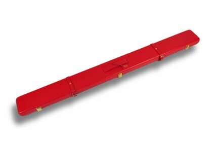 Red leather cue case