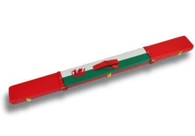 Welsh Flag design leather cue case