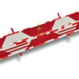White & Red Patchwork pattern leather cue case 3