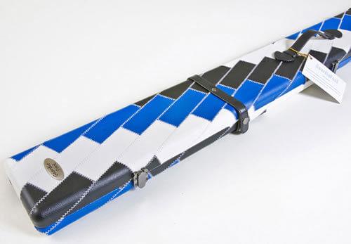 Geordie Blue Black & White Patch Pool Cue Case