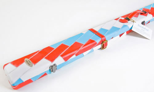 Geordie Red White & Blue Patch Pool Cue Case